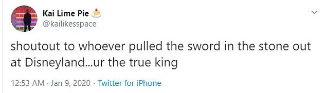 Disneyland guests were shocked by the accomplishment, with one person calling Sam 'the true king'