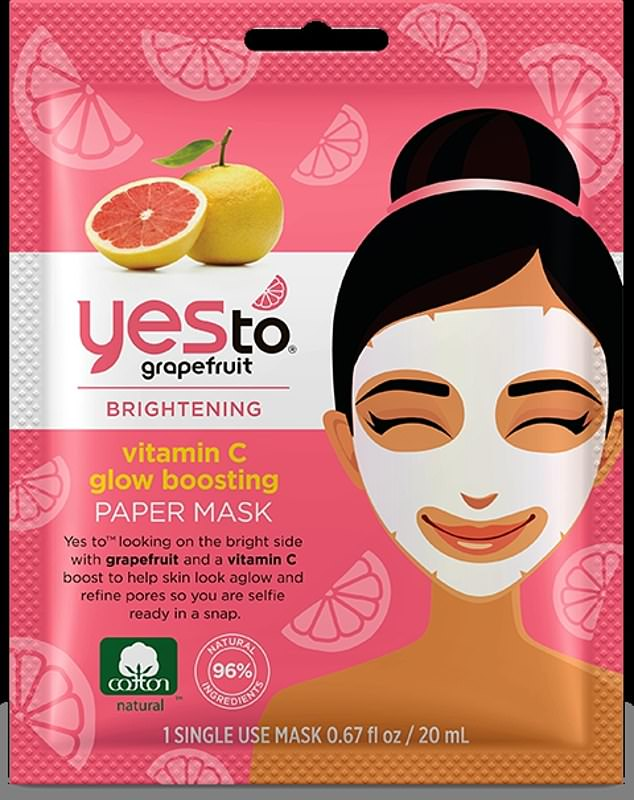 Alice claimed Brightening Vitamin C glow boosting Paper Mask (pictured) dried out quickly and leaked onto her hair