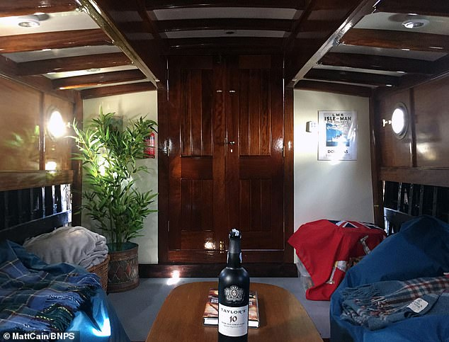 The interior after the restoration project.In the last few months, Matt has sorted its electrics and fitted its brass horn