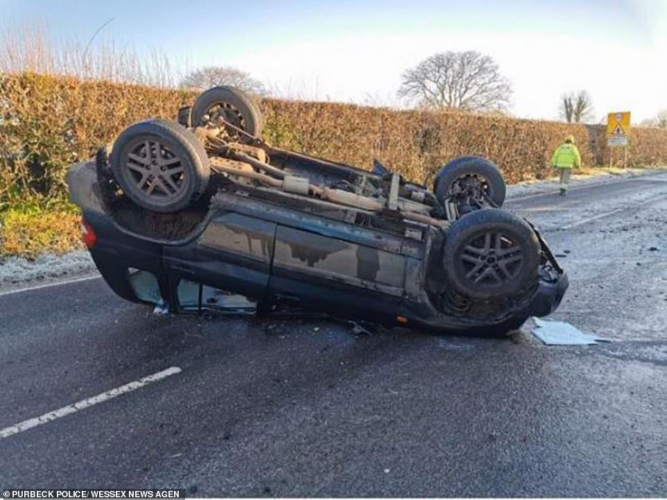 Drivers warned to pay attention as roads turn to ice causing dozens of accidents across Britain
