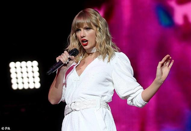 The study used three catchy songs - 'Shake It Off' byTaylor Swift (pictured) 'Call Me Maybe' by Carly Rae Jepsen and 'Don't Stop Believin' byJourney