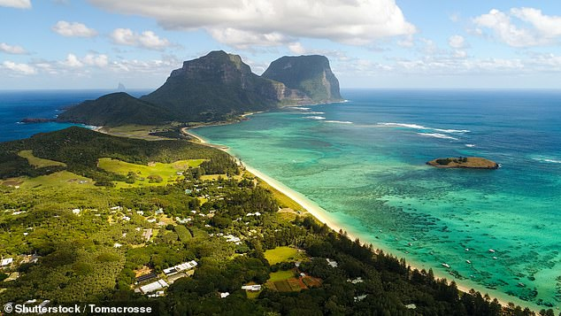 Lord Howe Island is a small is a small but popular tourist attraction a little less than 400 miles off the coast of Sydney, with just 350 local residents