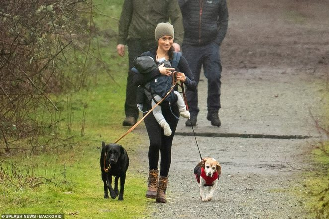 It is at least the second time the duchess has gone walking in picturesque Horth Hill Park during her stay on Vancouver Island
