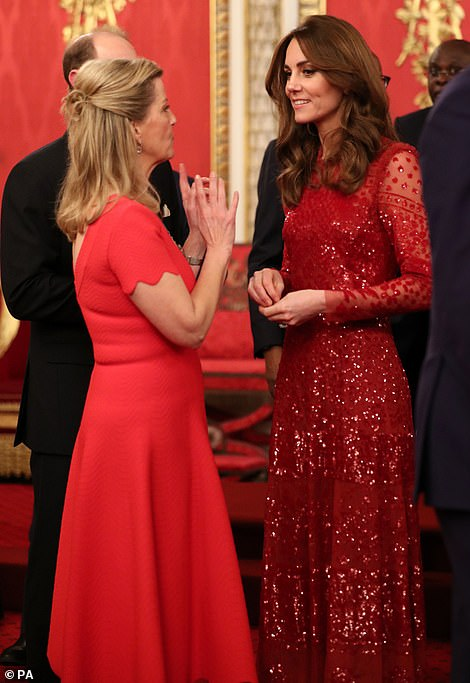 The Countess of Wessex and Kate Middleton