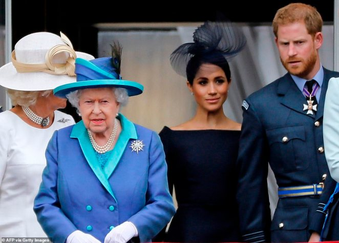 In her statement Her Majesty The Queen praised how Meghan had swiftly become part of the family and thanked the couple for the work they had done