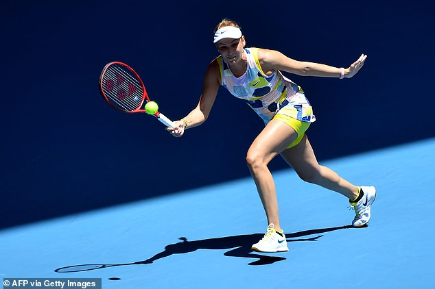 The 32-year-old Russian was beaten in straight sets 6-3 6-4 by 19th seed Donna Vekic