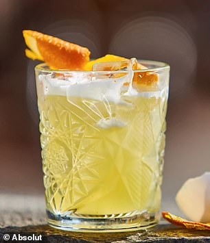 Other drinks containing egg whites, such as gin sours (pictured) may also carry the same risks