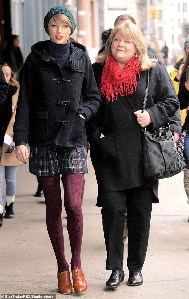 Taylor Swift has revealed that her mother Andrea, 62, has been diagnosed with a brain tumor in her battle with cancer. Mom and daughter are seen in 2014 above