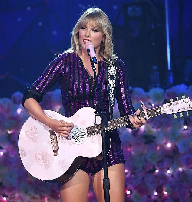 Coping mechanism: Taylor has been using her music to deal with the family hardship. Her new album Lover features the track Soon You'll Get Better, a touching tribute to her mom