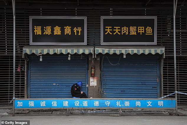 SARS, the deadly virus which started in southern China and killed more than 700 people in the early 2000s, came out of a similar market to Huanan Wholesale Seafood Market (pictured)