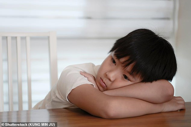 Scientists said they could work out whether a child was likely to develop depression by assessing how well they did at school, their relationships with their parents and their drug use, for example (stock image)