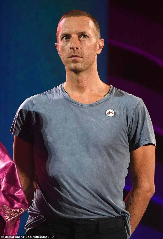 Angry: Chris Martin snapped at a group of autograph hounds after they were 'aggresive' in their attempts to get him to sign merchandise for them