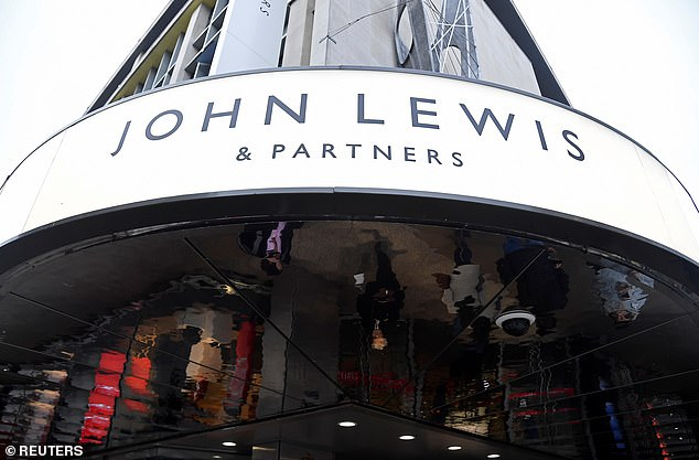 The UK-retailer is selling several versions of the organic mattress, which is also made from farm-grown sheep cotton (pictured: the Signage for the John Lewis and Partners flagship store in Oxford Street)