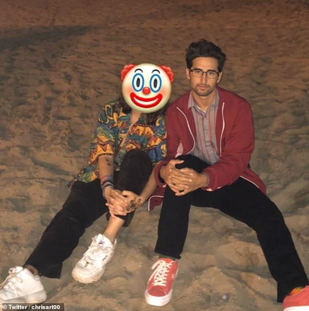 Tears of a clown. This happy customer said the quick photo-editing service was the best $10 he'd ever spend. Pictured with his ex-partner