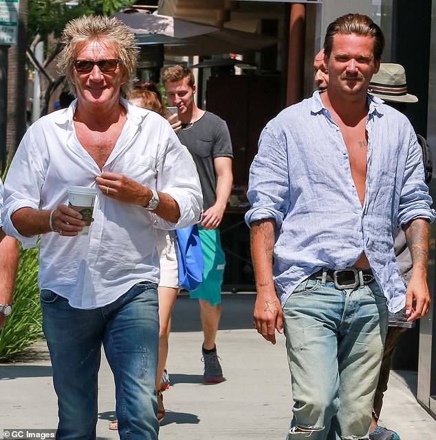 Stewart and his son Sean (pictured in LA in 2015) pleaded not guilty and their case is due in court in West Palm Beach, Florida on Tuesday. Neither is expected to appear before the judge