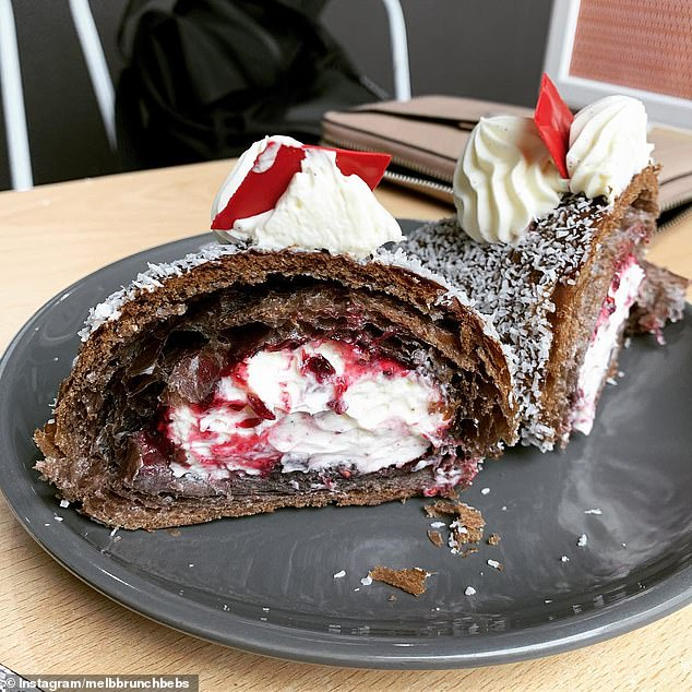 Head chef John Ralley has created the ultimate croissant filled with fresh cream and strawberry jam and topped with desiccated coconut after he was inspired by one of the nation's favourite cakes