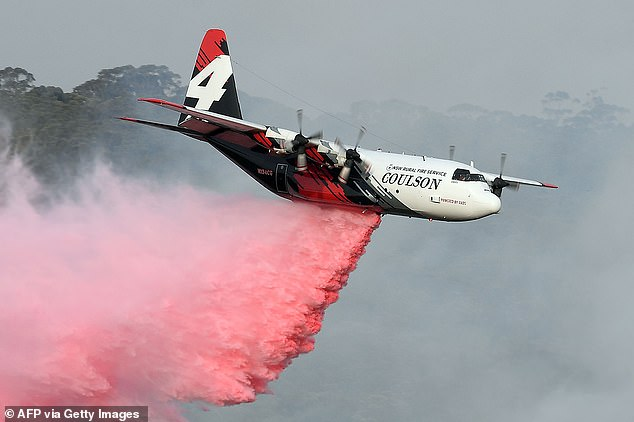 Three American firefighters died when their waterbomber crashed while fighting a huge bushfire