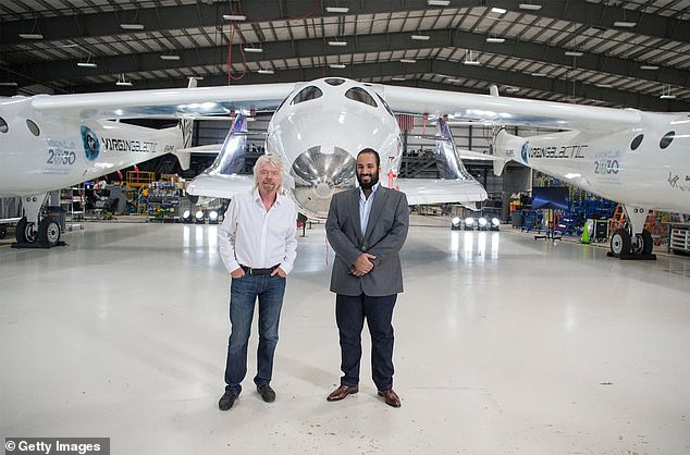 British billionaire Richard Branson was one of 50 prominent figures to meet with the prince