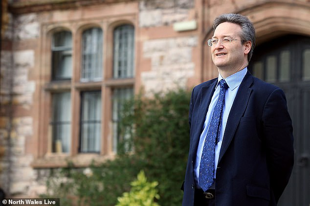 Toby Belfield, Principal of Ruthin School, pictured outside the school, in Denbighshire, north Wales