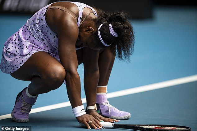 Williams gave a scathing assessment of her display and said she made far too many errors