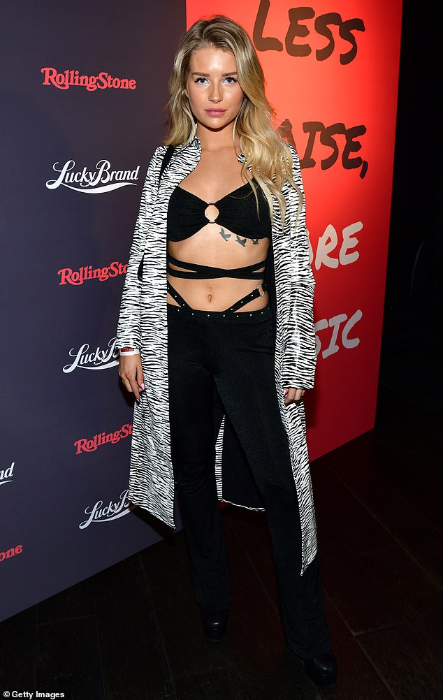 Blonde beauty: She was dressed to impress as she cemented her LA life