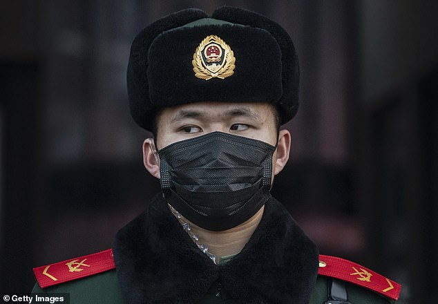 China spent the first crucial days of the coronavirus outbreak arresting people spreading news of the infection online and detaining journalists trying to report on it (file image)
