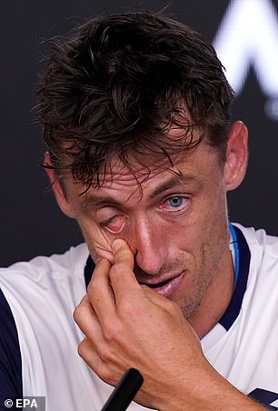Millman looks devastated after the loss