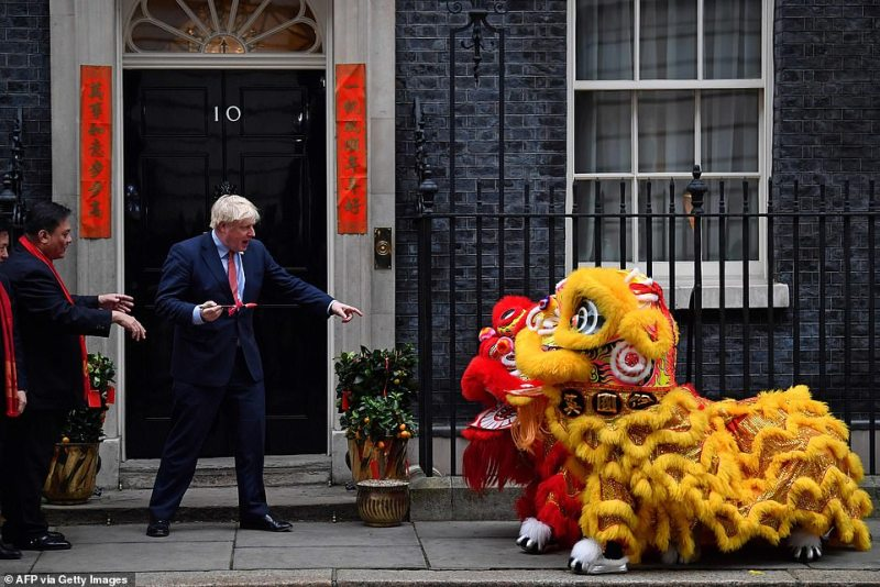 Prime Minister Boris Johnson welcomes members of the Chinese community at 10 Downing Street, London, in celebration of the Chinese New Year