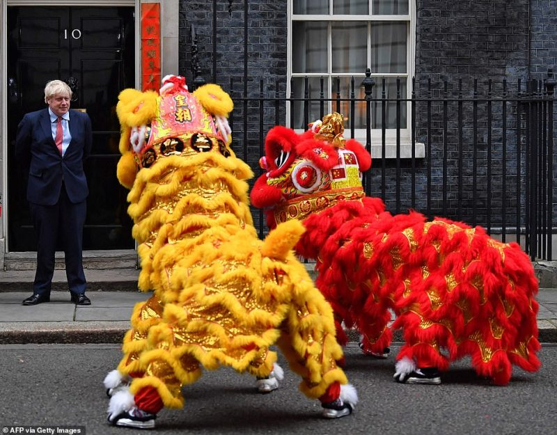 Mr Johnson hosted figures from the British-Chinese community in the heart of Westminster ahead of the lunar new year on Saturday