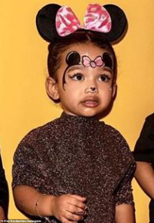 Cutie: Chicago is two years old and her father is rapper and clothing designer Kanye West