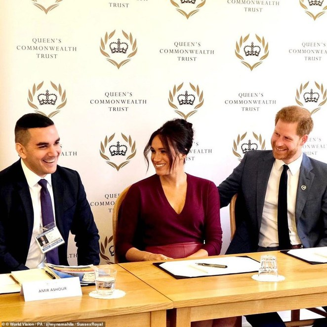 Meghan was pictured in India in 2017 with World Vision and at an Association of Commonwealth Universities event in South Africa in September 2019
