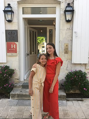 Richard's daughters Marina and Sofia, who found Ile de Re the perfect backdrop for their Instagram snaps