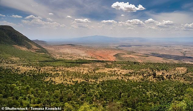 The Great Rift Valley, pictured, which is one of the last remaining wild, empty spaces on the planet