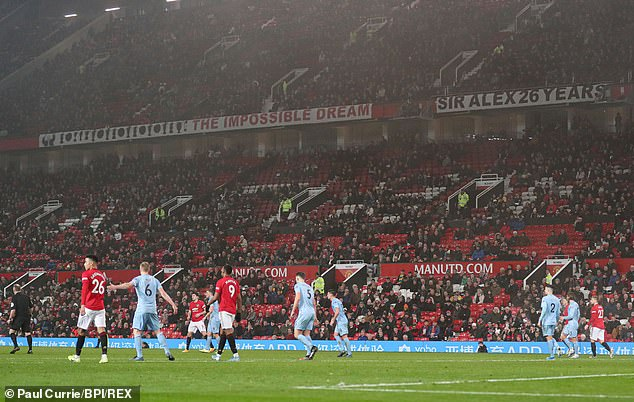 The mass outing of Manchester United fans at Old Trafford during the Wolves game on February 1 '