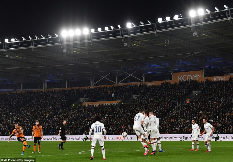 Kamil Grosicki's free-kick pulled a late goal back for Hull after a vicious deflection off Mateo Kovacic beat the goalkeeper