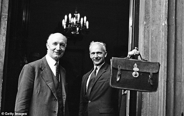 Lord Denning, left, is pictured with Thomas Critchley outside No10 with the report into the Profumo affair.The 1963 Denning Report would also prove to be a landmark: an eye-opening account of the sexual peccadillos enjoyed by some of the most powerful people in the land