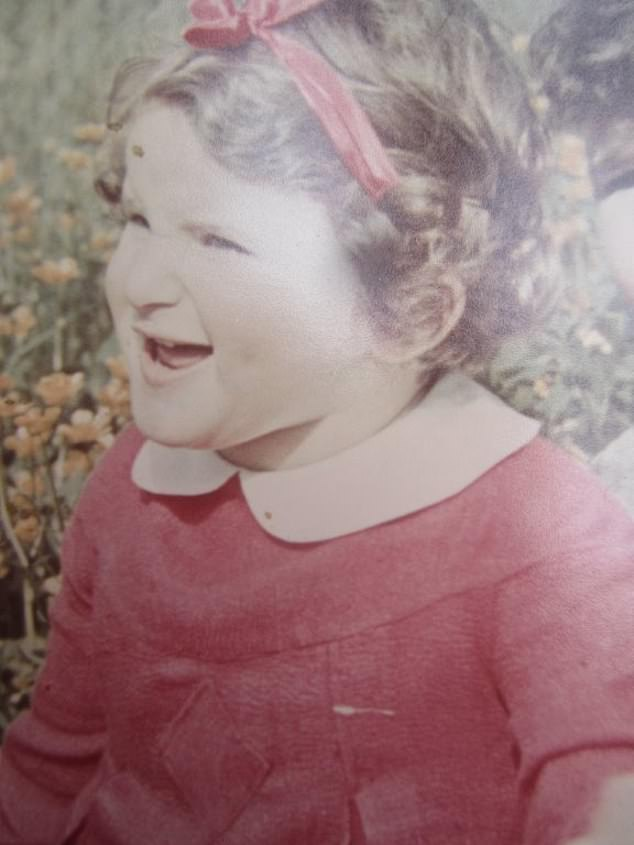 MrsBernstein was hidden as a child (pictured) in France throughout most of the Second World War and her uncle was seized and murdered for shielding her