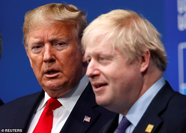 Sources said the US believes a decision to work with the Chinese telecoms giant was a 'done deal' because Mr Johnson does not want to be called Donald Trump's 'poodle'. They said that, on the basis of a phone call between the pair on Friday, the US believed Mr Johnson would probably give the go-ahead