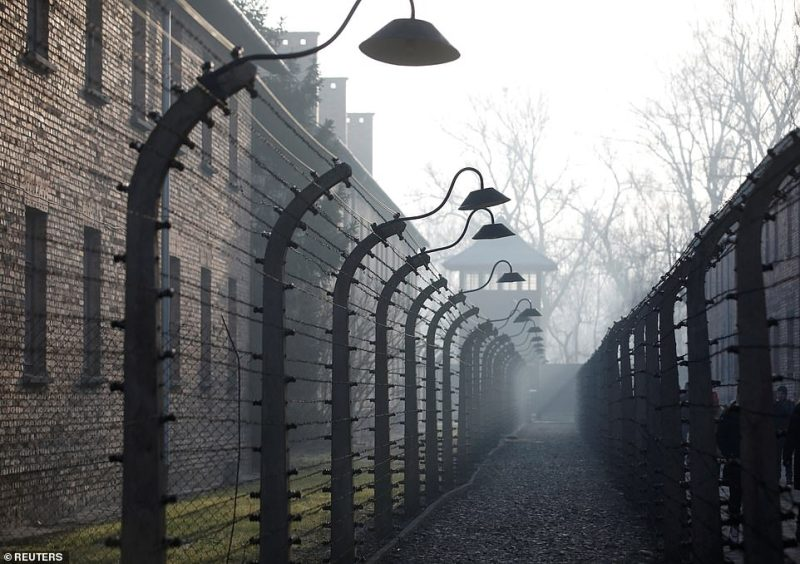 The cold winter's day cast a gloomy fog over the former death camp where thousands of Jews, Poles and Russians were imprisoned by the Nazis
