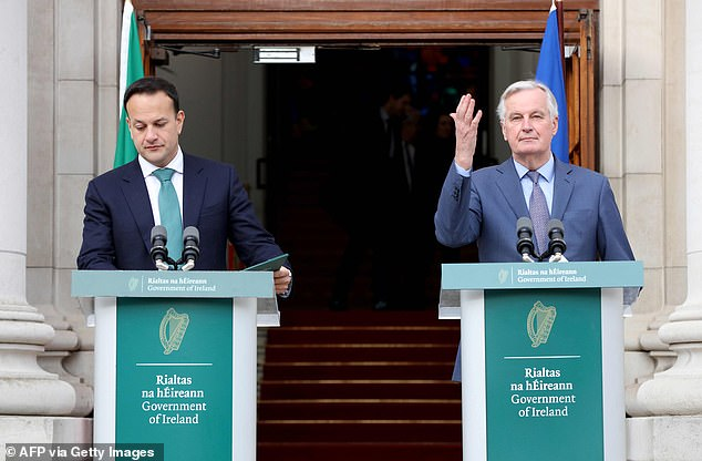 Mr Varadkar and Mr Barnier held talks in Dublin today as the Brexit process enters a new phase