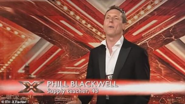 Blackwell achieved momentary fame on the X Factor in 2008 (pictured) when his version of Spandau Ballet's 'Gold' failed to impress the judges