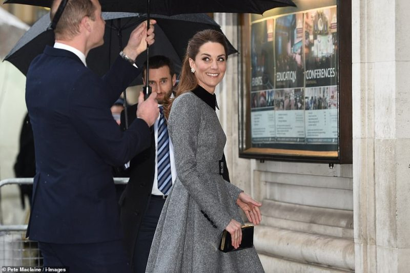 The Duchess of Cambridge at today's Holocaust commemorations in Westminster, where a commemorative service is remembering victims and survivors of Nazi persecution as well as subsequent genocides