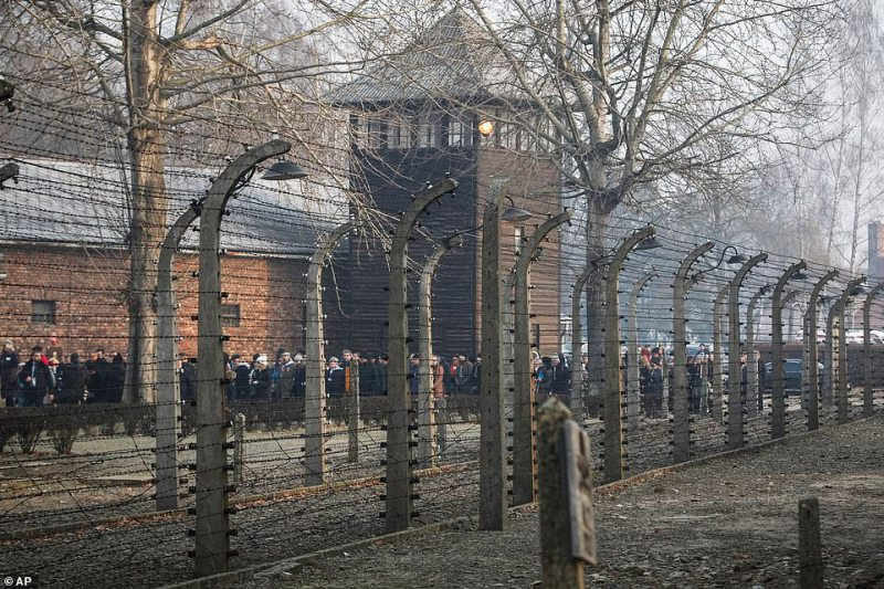 Some 200 survivors traipsed through the site on the cold winter's day, marking the 75 years since the Soviet Army liberated the camp effectively ending the years of torture many of them endured as prisoners during World War Two