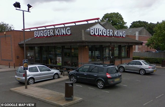 Pictured above is the Burger King in Erdington, Birmingham, where the video was filmed