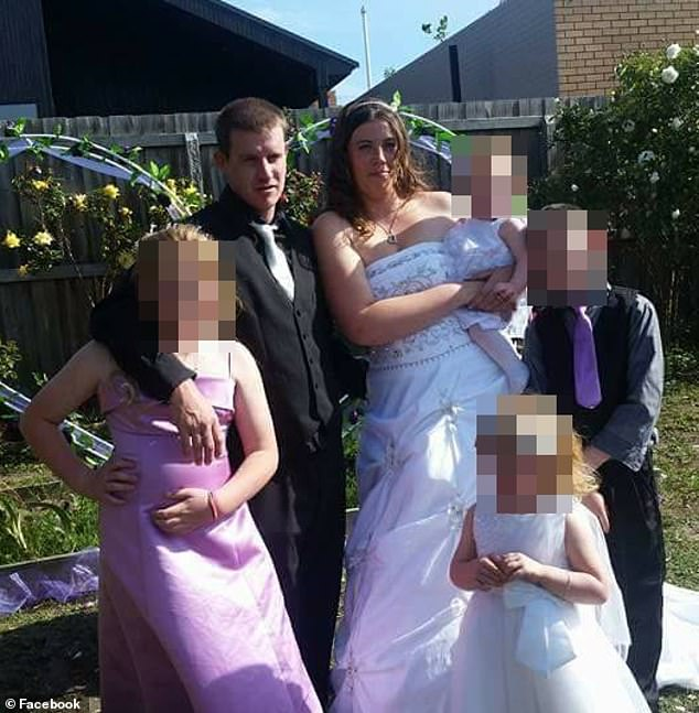 Angela Surtees, her husband Daniel and family in happier times