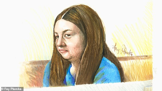 Angela Surtees, 34, of Geelong, appeared in court (above) charged with setting her husband on fire while he slept on an armchair