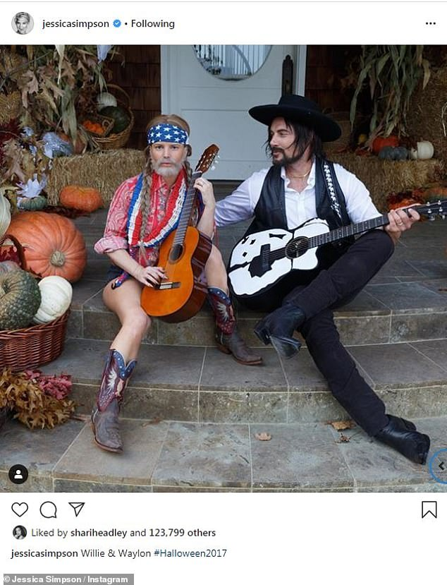 Dark days: While preparing to go as Willie Nelson to a 2017 Halloween party, with her team gluing on her fake beard and helping her with her wig, she had 'zoned out' on booze