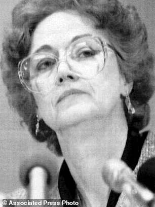Caril Ann Clair (pictured in 1993)is seeking a pardon for her role in 11 murders in the 1950s when she was 14, arguing that she accompanied her boyfriend because he threatened to murder her family
