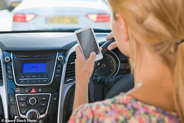 From midnight on Monday fines more than doubled in Western Australia, with drivers now facing a $1,000 penalty if they are caught messaging or using video chat (stock image)