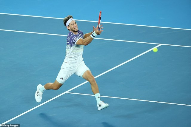 The 26-year-old Austrian showed no signs of nerves after going behind early on in his third Grand Slam final on Sunday
